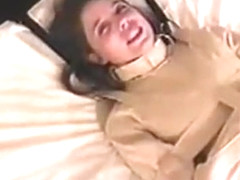Pretty little teen brunette peril in gagged straitjacket 1