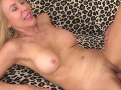 Sexy Blonde Granny Erica Lauren Spreads Her Legs for a Big Cock