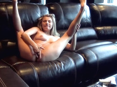 Carolina Sweets SMOKES a Cigarette and PLAYS with her Pussy