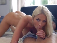 Karol Lilien gave a blowjob to her ex and then he fucked her dirty brains out