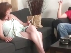 Horny guy strips off mature ladys clothes