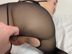 Quick fuck with the perfect schoolgirl in tights - Eva Elfie