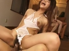 Incredible Japanese chick Mel Nonomiya in Crazy Lingerie, BDSM JAV movie