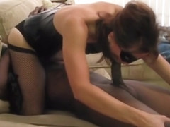 Amateur interracial trio cuckold cleans Round 1