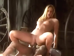 Blonde Lauren Phoenix likes black d