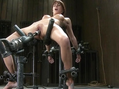 Enticing Haley Wilde having a real BDSM experience