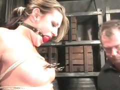 Teasing Carmen McCarthy having a real BDSM experience