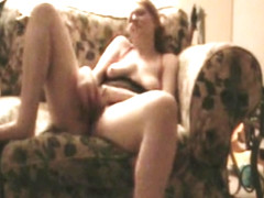 Lonely Redhead Housewife Masturbating and talking dirty.