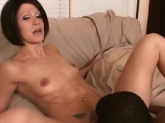 Pleasing Jami Kenney in interracial porn