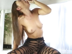 Nice carroty Olivia Wilder in tempting sexy stockings