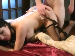 Delightful Sativa Rose performing in BDSM video