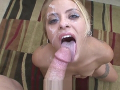 Cameron Canada blowjob and facial