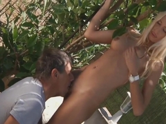 Old men craving for Erica Fontes, a hot blonde nympho