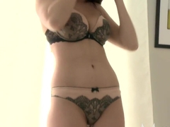 MOM Lingerie loving MILF shows her skills