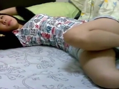 Chinese couple from taiwan having fun on bed