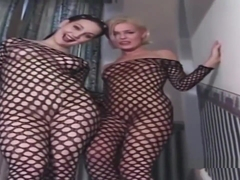 Brit Birds Anal And Dp In Fishnet Body Stockings
