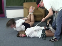 two school girl bondage