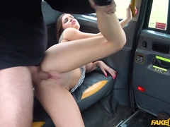 Driver Fucks Abandoned Girlfriend - FakeTaxi