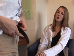 Pretty Cfnm Doctor Tugging Her Patients Dick