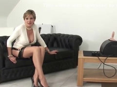 Unfaithful english milf lady sonia pops out her gigantic boobs
