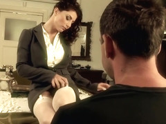 Roberta Gemma is moaning while getting stuffed with a huge dick, because it feels so good