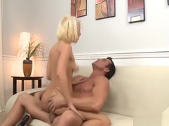 Comely golden-haired Lexi Swallow let the dude cum on her face