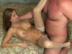 Amazing woolly mature lady is makeing dude cum