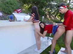 Teen punished by huge cock first time Family Fourth Of July