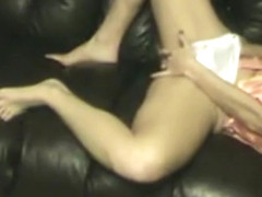 Satin panty play & hubby ride