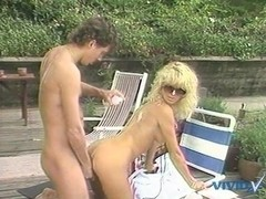 Jamie Summers, Kim Angeli, Tom Byron in classic sex scene