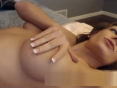 Stepmother Milf with big tits solo masturbates - more on sexcams666.de