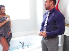 Johnny Cheats On Bae With Busty Hoe In Bathroom - Brooklyn Chase And Johnny Castle
