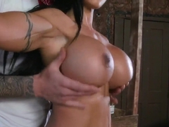 Cowgirl Clover gets her pussy pumped by the sheriff