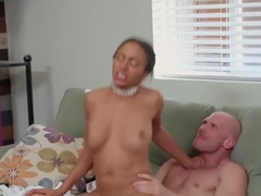 Black woman with gorgeous Tits after sex got cum on face