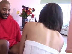 Sexy Coco Velvett Takes Black Cock On The Couch