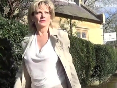 Unfaithful english milf lady sonia flaunts her gigantic boobies