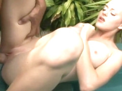Braided Ponytail Girl Gets Fucked in the Hot Tub