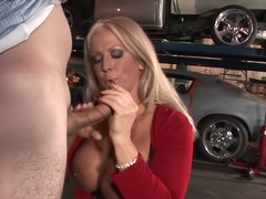 Crazy pornstar Alura Jenson in incredible handjob, blowjob sex scene