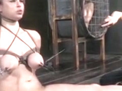 Bdsm Titty Tortured Bella Rossi Caned By Femdom