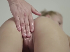 JOYMII Katy Rose gets dripping wet massage for tight pussy