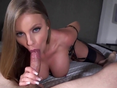 Britney's beautiful ball draining blowjob