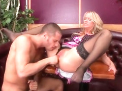 Delightful English MILF Simone Sonay was penetrated in ass