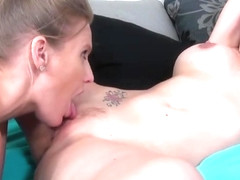 Blonde porn video featuring Allison Moore and Brianna Ray