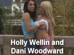 Fabulous pornstars Holly Wellin and Dani Woodward in exotic lesbian, blowjob sex video
