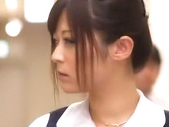 Exotic Japanese girl Haruki Sato in Horny Secretary, Blowjob/Fera JAV movie