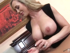 Brandi Love gets to wank him off