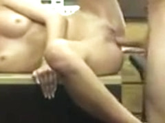 Tight amateur blonde babe gets pussy pounded by pawn dude