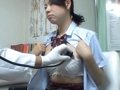 Medical voyeur cam shooting Asian explored in gyno office