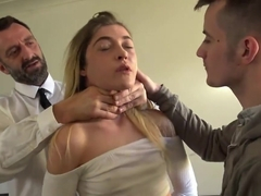 Horny young doll Rhiannon Ryder gets her pussy destroyed