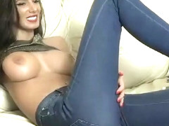 Busty model bouncing boobs Part 02